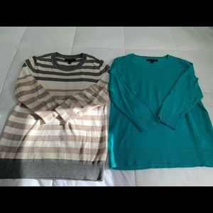 Set of two Banana Republic 3/4 sleeved sweaters